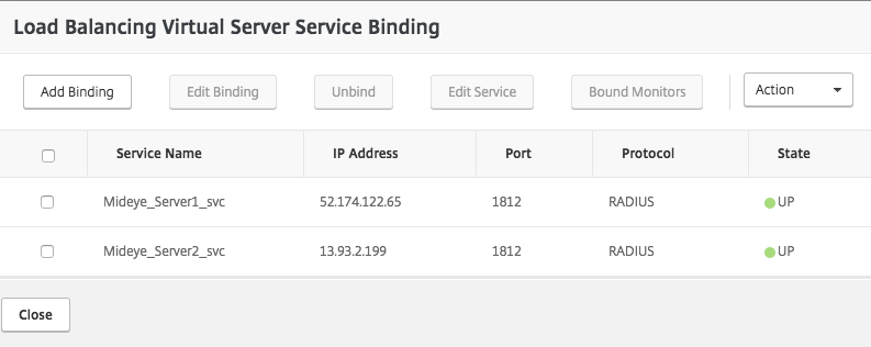 Bind the two services