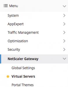 Navigate to virtual server