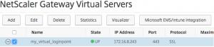 Select virtual server