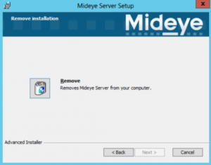 Uninstall Mideye Server