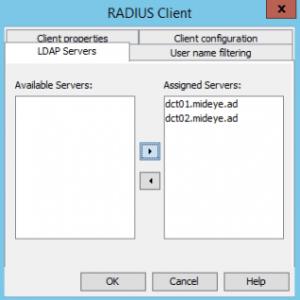 Assign LDAP-servers