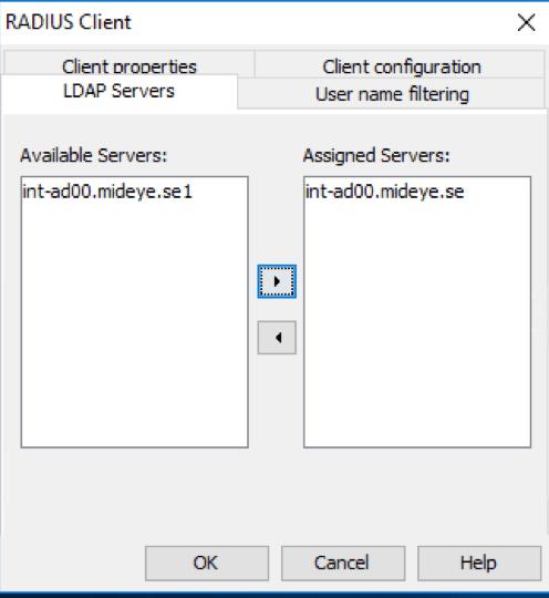 Select LDAP server