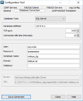 Configure database connection