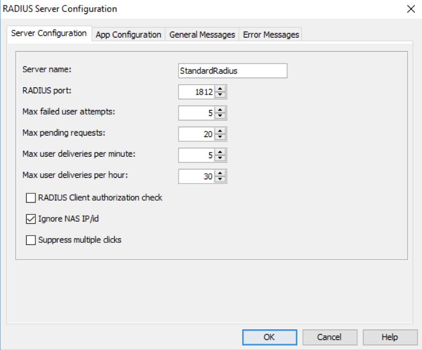 Modify StandardRadius Server