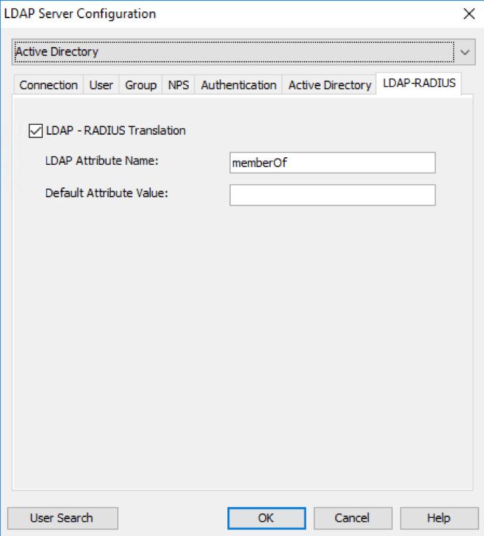 Enable LDAP RADIUS Translation