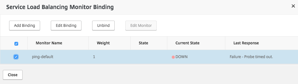 Remove ping monitor