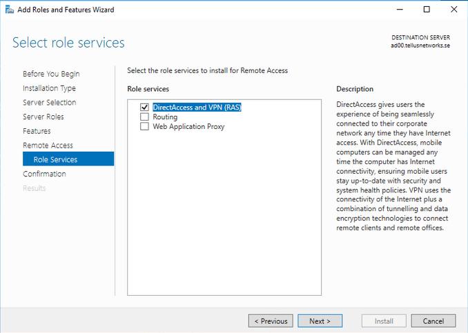 Microsoft Remote Access Server |